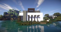 Clane Modern House beautiful amazing beach water wood minecraft building 3