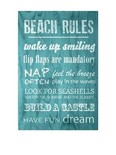 Really Nice Things Holztafel Beach Rules