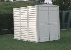 DuraMax Model 00811 YardMate Vinyl Storage Shed with floor Vinyl Storage Sheds, Vinyl Sheds, Storage Shed Plans, Built In Storage, Tall Cabinet Storage, Build A Shed Kit, Shed Kits, Building A Shed, Metal Storage Buildings
