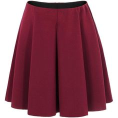 Yoins Burgundy Skate Skirt-Red  S/M/L ($16) ❤ liked on Polyvore featuring skirts, bottoms, lullabies, red, skater skirt, flared skirt, purple skater skirt, red skirt, red skater skirt and burgundy skirt
