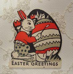 1930s Bunny card