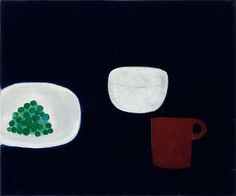 William Scott, Still Life, Grapes, 1976, Oil on canvas, 62.8 × 76 cm / 24¾ × 30 in, Private collection