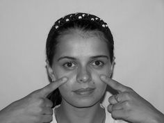 Tone baggy facial skin and massage away wrinkles using face yoga workouts. Useful facial toning exercises for men and women to erase face wrinkles and tighten lined, saggy face skin and muscles Sagging Cheeks, Sagging Face, Under Eye Wrinkles, Face Wrinkles, Face Lift Exercises, Toning Exercises, Reduce Eye Bags, Face Tone, Natural Face Lift