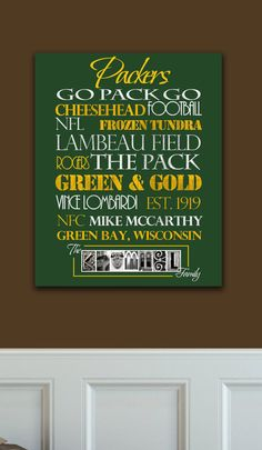 Packers Standout by SportingStandouts on Etsy, $60.00 green bay packers football...christmas present for the daddio!!!