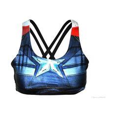 f121bcd364 free Women Sports Bra underTop Running lulu Underwear Superhero... ❤ liked  on Polyvore
