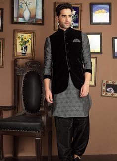 fashionable-banarasi-jacket-style-kurta-pyjama-800x1100.jpg (800×1100)