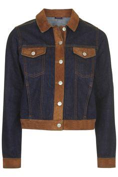Moto Suede Trim Western Jacket