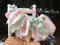 Fabric Tutu Vintage tea party lace Shabby Chic by ChicSomethings- I'd like it in a longer version or even as a background garland!