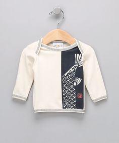 #zulily #fall Natural Koi Fish Organic Tee - Infant & Toddler