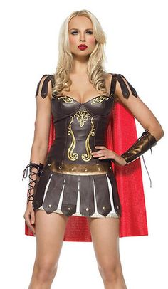 Ladies Gladiator Warrior Princess costume, woman Gladiator costume, Xena Dress | eBay