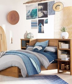 Find cute and cool girls bedroom ideas at Pottery Barn Teen. Shop your dream room with our teen room inspiration and ideas. Dream Rooms, Dream Bedroom, Girls Bedroom, Coastal Bedrooms, My New Room, Bedroom Decor, Bedroom Ideas, House Design, Interior Design