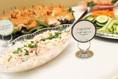 Baby shower food table - Crab Salad