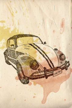 the retro project  beetle poster vale agapi 2014