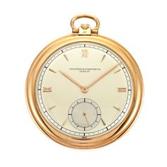 Rose Gold Open Face Pocket Watch, Vacheron & Constantin   18 kt., subsidiary seconds, dia. ap. 49 mm., movement, case & dial signed Vacheron & Constantin, Geneve, c. 1930.