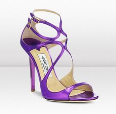 ec616a18c5d2 Lance - Electric crushed mirror leather sandals from Jimmy Choo. in Violet  ♥♥ Cute