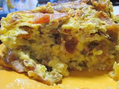 A cross-section of the Kitchen Sink Omelet at Duncan's Cafe.