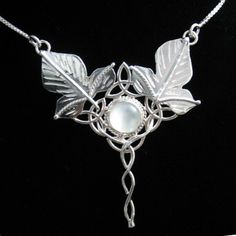 Elvish Celtic Ivy Leaf Pendant with 16 Inch Box Chain  by Camias, $115.00