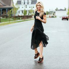 Keeping things nice and sleek in this black dress by @vincecamuto line at @macys. #MacysLoves http://liketk.it/2orLH @liketoknow.it #liketkit