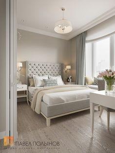 Спальня в стиле американской неоклассики в ЖК Империал