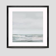Printable Abstract Art. White Day  A calming, minimal seascape painting.  Large square Painting with relaxing tones, hand painted.  The painting has been made into a digital file that you can download and print out.  None of my artwork is available on the high-street. I can create