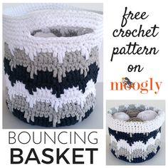 Bouncing Basket - free crochet pattern on Mooglyblog.com!