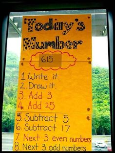 An easy and effective number-of-the-day activity (19 Ridiculously Simple DIYs Every Elementary School Teacher Should Know)