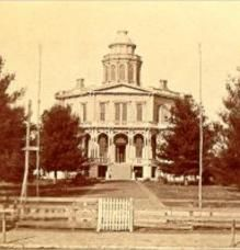 Quincy, IL. Octagon house. Built in 1857, for the town's founder, John Wood, later the governor of Illinois, at a cost said to be $200,000. Demolished in the 1950s or 1960s. http://www.octagon.bobanna.com/main_page.html