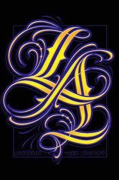purple gold photo: Los Angeles Purple and Gold Los Angeles Lakers Logo, Lakers Wallpaper, La Tattoo, Tattoo Fonts, Lakers Girls, Air Max Classic, Kobe Bryant Black Mamba, La Rams, I Love La