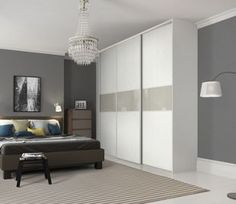 Wickes Sliding Wardrobe Door Fineline White Panel u0026 Soft White Glass 2220 x 762mm : fineline doors uk - pezcame.com