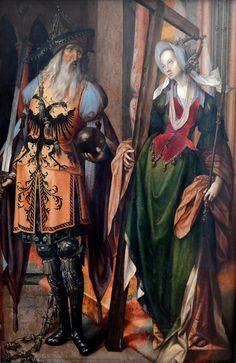Constantine and St. Helena, Cornelis Engebrechtsz (1460-1527)  Alte Pinakothek, Munich:
