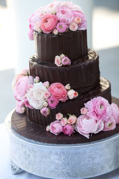 chocolate wedding cake!