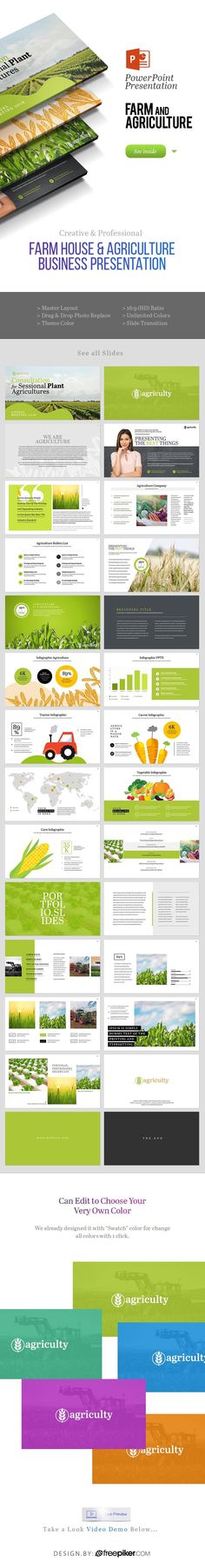 Agriculture Powerpoint Presentation by PantonStudio Powerpoint Icon, Powerpoint Charts, Powerpoint Template Free, Business Powerpoint Templates, Keynote Template, Agriculture, Presentation Design, Brochure Design, Business Design