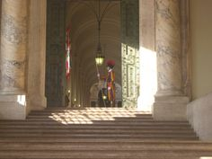 Papal Swiss Guard at one of the entrances of the Vatican