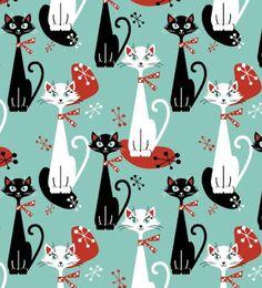 retro cat pattern