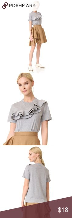 """Cute Shirt Worn only once ! In perfect condition, like new ! Fits S-M. Bust area is about 36"""". Gray color! Tops Blouses"""