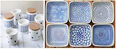 DIY pintar porcelana en casa. Muchas ideas y tutoriales para inspirarse