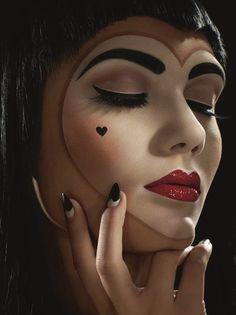 doll clown make up