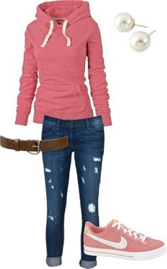 School outfit. Converse in exchange for the Nike's would make this perfect.