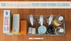 Whip up your own cleaners for spring cleaning. Save yourself some $$ and skip the harsh chemicals. Via Clean Mama