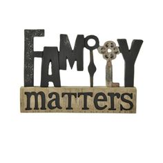 Found it at Wayfair - 'Family' Matters with Key Letter Blocks