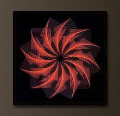 EXTREME FINE ZEN STRING ART, MYSTICAL SPIRITUAL 3D GEOMETRY WALL ART, MANDALA…
