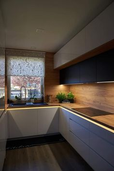 Ikea Kitchen Design, Kitchen Cabinet Design, Modern Kitchen Design, Kitchen Layout, Home Decor Kitchen, Interior Design Kitchen, Home Kitchens, Modern Kitchen Interiors, Modern Kitchen Cabinets