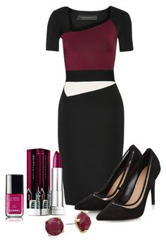 jersey dress by ria-kos on Polyvore featuring polyvore, fashion, style, Roland Mouret, Lucky Brand, Maybelline, Chanel and clothing