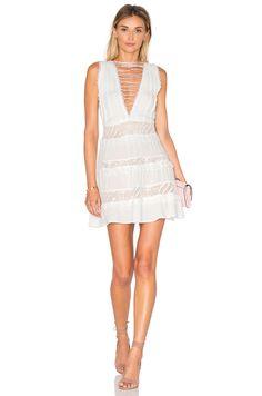 For Love & Lemons Lola Rose Dress in White