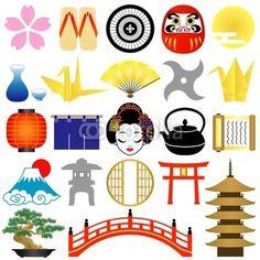 ACTIVITES - Clipart sur le Japon à imprimer pour décorer carnet de voyage, lapbook...