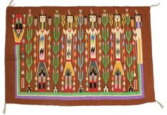 Navajo Yei People Southwestern Tapestry by PythagorasPlace on Etsy