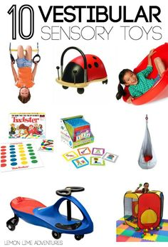 10 vestibular Sensory gifts for kids | Part of an awesome gift guide covering multiple sensory systems. I never would have thought of these!