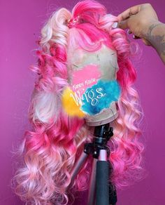 Lace frontal Wigs For Women Hair Stylist Near Me White Blonde Hair Extensions Curly Wigs 30 Hair Extensions Straight Wigs Purple Hair Dye Lace Front Wig Styles, Curly Hair Styles, Dyed Hair Purple, Pink Hair, White Blonde Hair, Blonde Hair Extensions, Hair Laid, Baddie Hairstyles, Lace Hair