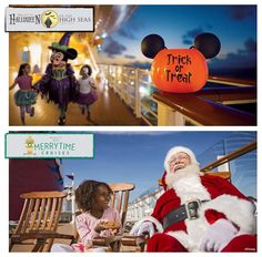"Dates have been announced for Disney Cruise Line holiday sailings in 2015 – on all four ships! ""Halloween on the High Seas"" cruises will take place during select dates in Sept. & Oct. while ""Very Merrytime"" cruises will sail during select dates in Nov. & Dec."