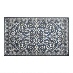 One of my favorite discoveries at ChristmasTreeShops.com: 6'x9' Indigo Flowers Area Rug